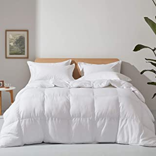 Alanzimo Down Alternative Comforter (White Stripes,King:106x90 inches) - Ultra Soft Brushed Microfiber Fill- Hypoallergeni...