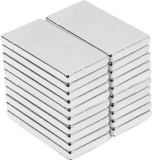 30pcs Aimants de Terre Rare, 20 x 10 x 2 mm Aimants En Néodyme, Magnétiques Rectangulaires Forte Barre Aimants de Terres R...
