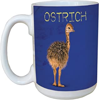 Tree-Free Greetings LM45770 Ostrich 15 Ounce Ceramic Coffee Mug with Full Sized Handle