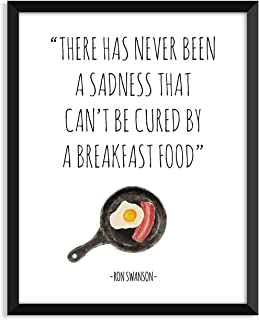 Serif Design Studios Ron Swanson - Breakfast Food, Parks and Recreation, Leslie Knope, Funny Quote, Minimalist Poster, Home Decor