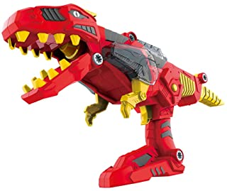 CoolToys 17 Pc Dino Morpher with Exciting Lights & Lively Sound Effects  Super Transformation Set with Electric Drill- Red