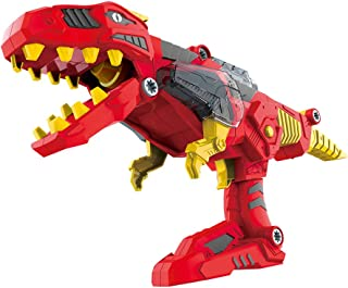 CoolToys 17 Pc Dino Morpher with Exciting Lights & Lively Sound Effects| Super Transformation Set with Electric Drill- Red