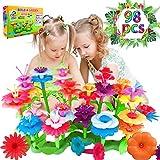 Blumengarten Spielzeug für Mädchen, DIY Bouquet Sets Geschenk für 3-6 Jährige Mädchen kinder Blumengarten Spielzeug für Mädchen DIY Bouquet Blume Bausteine Spiele für Kinder Geschenke ab 3 4 5 6 Jahre
