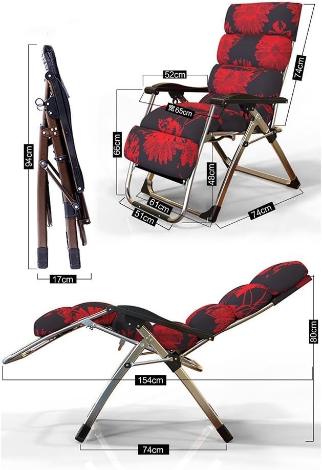 ZHPBHD Chaise Pliante Fauteuil inclinable inclinable pour la Pause de midi, Bureau d'été, Fauteuil de Maison, Fauteuil de Plage, Chaise Facile (Color : A) A