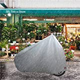 Durable Bike Cover Waterproof Bicycle Cover with Rainproof Anti-UV Anti-Wind Anti-Dust for Outdoor&Indoor Rain Resistance Storage Bike Cover for Mountain Bike with Lork <span class='highlight'><span class='highlight'>ELR</span></span> Polyester–Silver(S)
