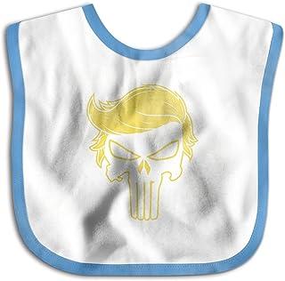 UBCATDESA Trump Punisher Baby Bibs, Unisex Baby Soft Cotton Easily Clean Teething Bibs(Blue&Pink)
