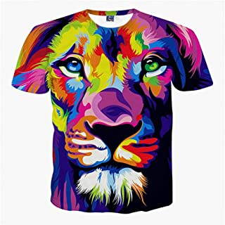 Animal Cat RCFRGV Camisa 3DT Camiseta b/ásica para Hombre//b/ásica de Street Club para Hombres Cuello Redondo Estampado Negro XXXL//Manga Corta