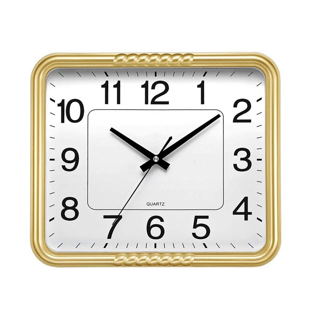 Horloge Murale Carr/ée Rythm Couleur Argent Horloge Silencieuse