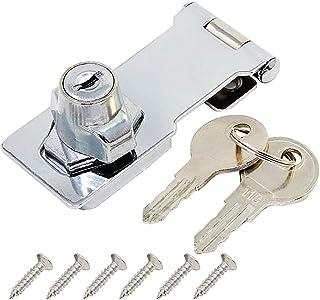 Gabinete Blanco 4 Pcs Cerradura de Nevera Seguridad de Armario para ni/ños Cable Cierre con Llaves para Muebles Puerta de nevera Armario Caj/ón
