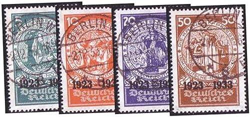 Goldhahn Deutsches Reich Nr. 508-511 gestempelt Nothilfe  Blockeinzelwerte Briefmarken für Sammler