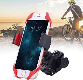 Universal Bike Phone Mount, Adjustable Cell Phone Bicycle Rack Handlebar & Motorcycle Holder Cradle Compatible with iPhone Android GPS Other Devices, Holds Phones Up to 3.5