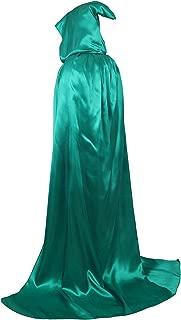 dark green hooded cape