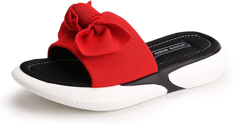 GIY Women's Platform Heeled Sandal Comfort Peep Toe Slide Slipper Slip On Sport Wedges Sandals