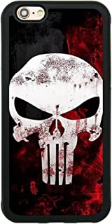 Punisher Skull Logo Case for iPhone 6/6S (4.7 Inch) Comic TPU Silicone Gel Edge + PC Bumper Case Skin Protective Printed Phone Full Protection Cover