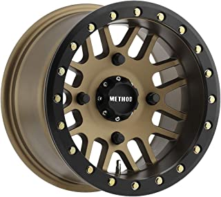 Method Race Wheels MR406 UTV Beadlock Method Bronze With Matte Black Ring Wheel with Painted (14 x 8. inches /4 x 156 mm, -2 mm Offset)