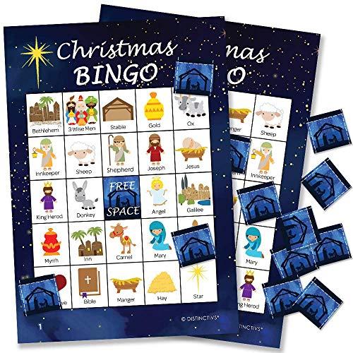 Religious Christmas Bingo Game - 24 Players