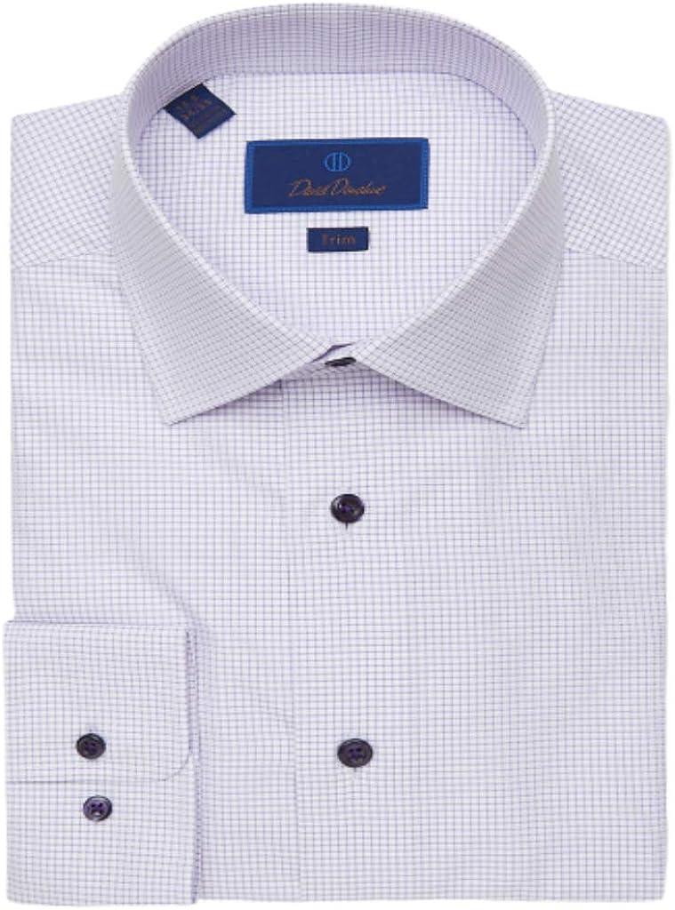 5 ☆ very popular David Donahue Trim Fit Check Max 52% OFF Mini Shirt Dress