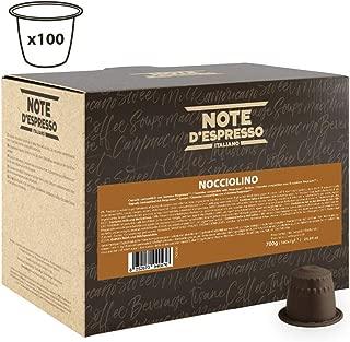 Note D'espresso Nocciola, Capsule per bevanda alla nocciola istantanea, 7 g x 100