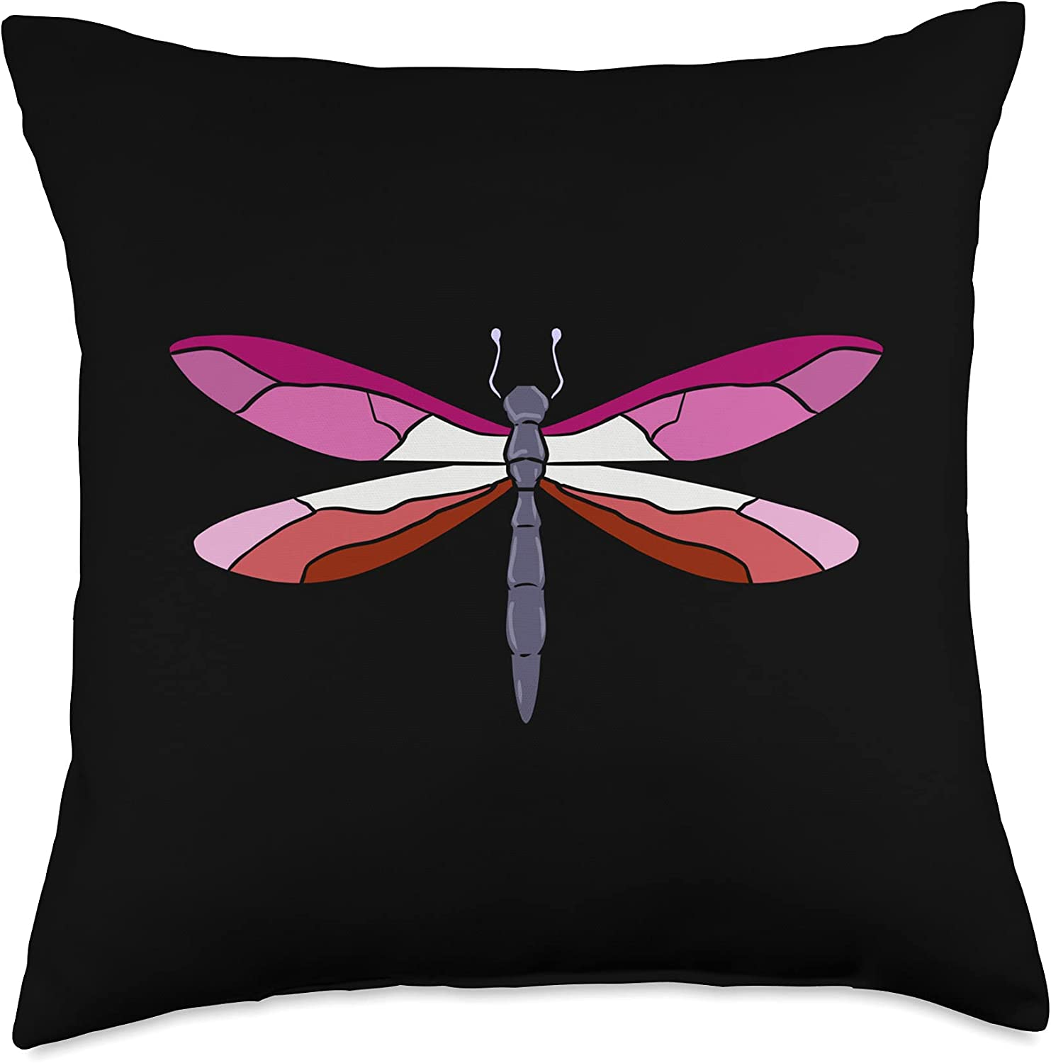 Lesbian Pride Dragonfly Throw Multicolor 18x18 Pillow Columbus Mall