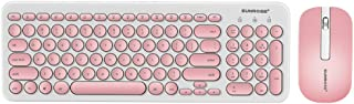 Sharon Church SUNROSE T85 Wireless Keyboard And Mouse Combo Keyboard With Round Keycaps 2.4GHz