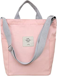 Fanspack Handbag Multifunctional Canvas Shoulder Bag Purse Large Capacity Crossbody Bag