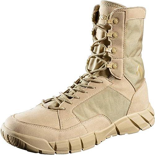 Liabb Stiefel Militares para Hombre Combate Stiefel tácticas herren Ejército del Desierto schuhe armados Patrulla de la Selva Práctico Calzado Cordones schuhe de Cuero,SandFarbe,40