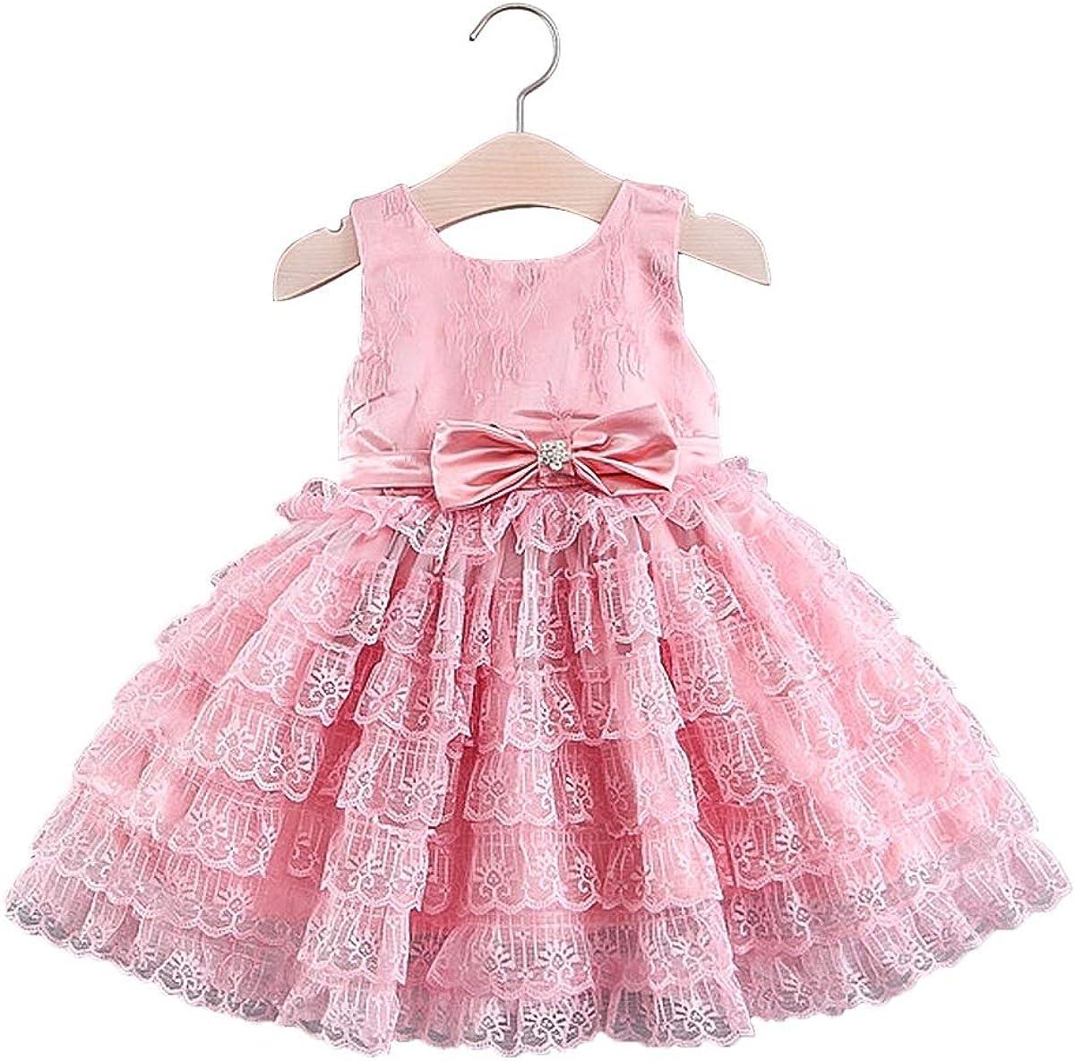 Little Girl Tank Princess Dress 3D Flowers Bowknot Tulle Lace Summer Party Tutu Dress