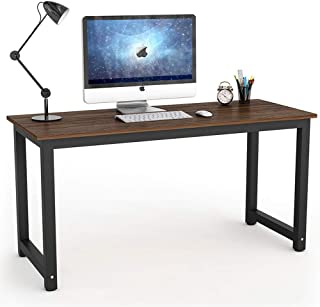 Tribesigns Vintage Computer Desk, 55 inch Large Office Desk Computer Table Study Writing Desk for Home Office, Oak Brown