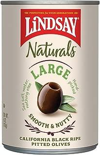 Lindsay Naturals Large Pitted Ripe Black Olives, 6 oz (Pack of 12)