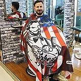 Traje de peluquería profesional a prueba de agua, cierre a presión ajustable para peluqueros, fácil de limpiar, ligero y resistente al agua, adecuado para peluquerías y salones de belleza