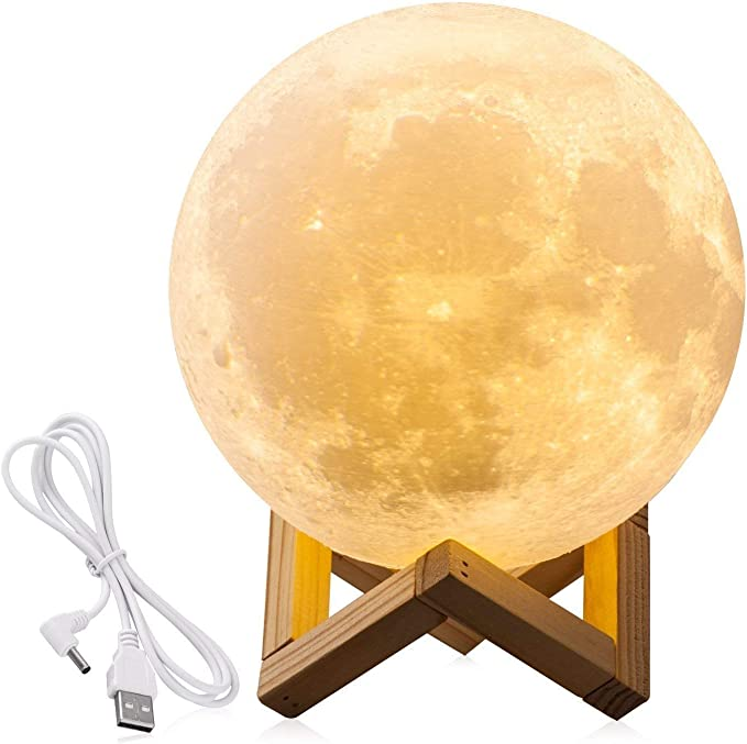 WilliamKlein 3D Magical Moon Lamp Night Light USB LED Touch Activated : Amazon.com.au: Lighting