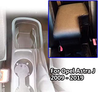 Doppellagige schwarze Leder Armlehne für Astra J 2009 2019 Mittelkonsole Aufbewahrungsbox Armlehne