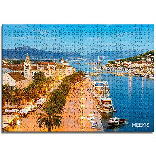 CAFO Puzzle de juguete para adultos y niños Dalmatia Mini 1000 piezas de papel puzle