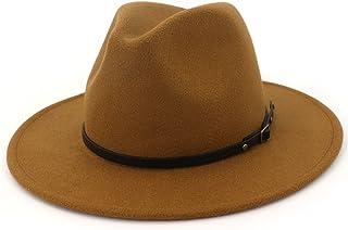 Lisianthus Women Wide Brim Wool Fedora Panama Hat with Belt Buckle