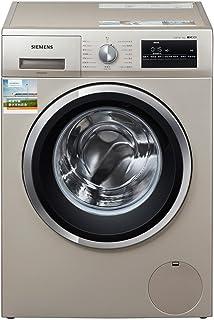 【国美自营】SIEMENS 西门子 WM12P2699W 9公斤 滚筒洗衣机 缎光银 变频1200转 3D正?#21512;?除菌?#21512;?#31243;序【大牌?#22270;??#20998;时?#35777;】
