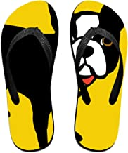 Boston Terrier and French Bulldog Unisex Adults Casual Flip-Flops Sandal Pool Party Slippers Bathroom Flats Open Toed Slide Shoes