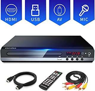 Sandoo DVD Player for TV, Multi-Format Region Free DVD CD/Disc Player, HDMI Cable..