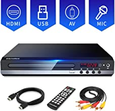 Sandoo DVD Player for TV, Multi-Format Region Free DVD CD/Disc Player, HDMI Cable Included, USB/MIC Input for TV, Built-in PAL/NTSC System, Upgraded Remote, NOT Blu-ray DVD Player, MP2206