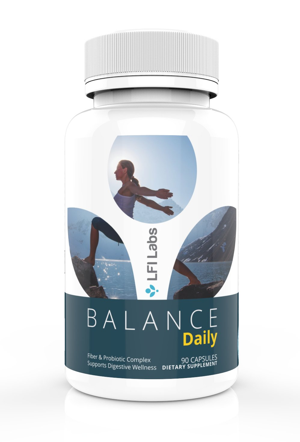 Balance Daily Cleanse: Prebiotic Fiber & Probiotic Supplement — Gentle Maintenance Cleanse & Detox, w/Fiber and Probiotic for Healthy Gut Flora — Eliminate Toxins and Lose Weight. Doctor Recommended