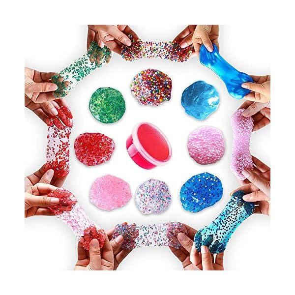Unicorn Slime Kit - Slime Supplies Slime Making Kit for Girls Boys, Kids Art Craft, Crystal Clear Slime, Glitter… 7