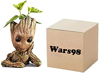 Groot Planter Pot Baby Flowerpot Cartoon Cute Model Pen Container Guardians Action Figures Toy Best For Kids 5.5