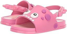미니 멜리사 샌들 Mini Melissa Mini Beach Slide Din (Toddler/Little Kid),Pink