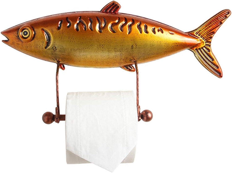 tomar hasta un 70% de descuento YQCSLS Portarrollos de Papel higiénico Tuna Creative Creative Creative Bathroom Roll Holder Toallero de Papel montado en la Parojo, oro, Tamaño  40 x 20 x 9 cm  almacén al por mayor