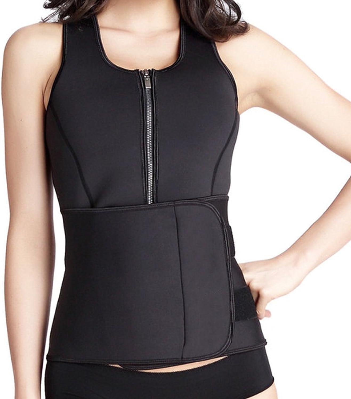 Defitshape Women's Neoprene Sauna Suit Sweat Vest with Adjustable Waist Trimmer