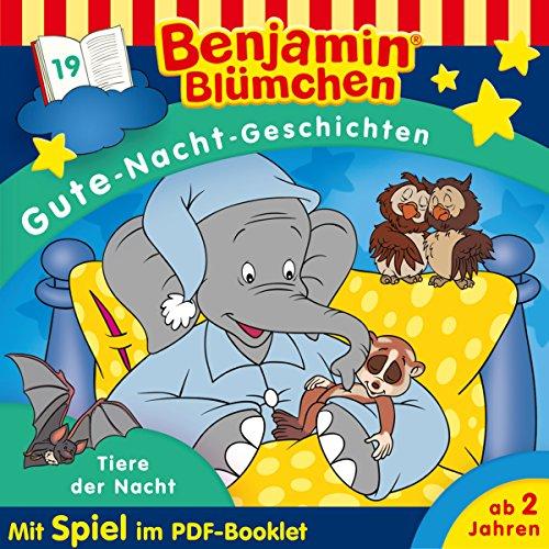 Tiere der Nacht (Benjamin Blümchen - Gute-Nacht-Geschichten 19) Titelbild