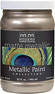 Modern Masters MM221 Matte Metallic Paint, Warm Silver, Quart