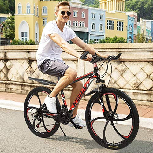 Rusilay Youth and Adult Mountain Bike,26in Folding Mountain Bike 21 Speed Bicycle Aluminum Full Mountain Bike,Outroad Mountain Bike
