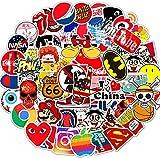 Eholder 100pcs Graffiti Autocollant Sticker,Autocollant Vinyle Autocollant Aléatoire Parfait pour Moto,Voiture,Enfant,Ordinateur Portable,Vélo,Valise,Auto,Skateboard,Guitaire (100 Marque)