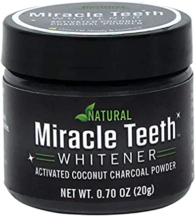 KRIYAA NATURAL MIRACLE TEETH WHITENER | Natural Whitening Coconut Charcoal Powder | Gentle on Teeth and Gums and Removes Stains Caused by Smoking, Coffee, Soda, Red Wine and More!