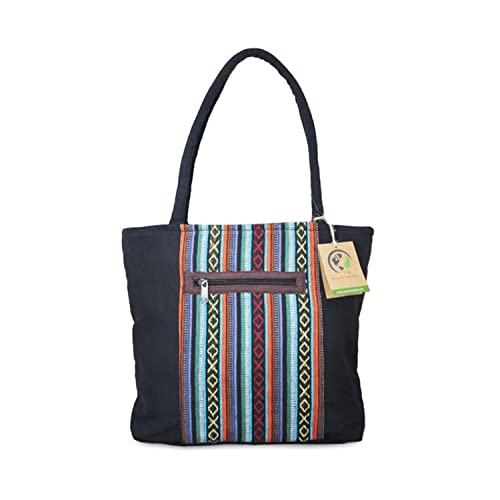 d0517cfea5 Mato Canvas Travel Tote Bag Shoulder Handbag Bohemian Boho Tribal Aztec  Pattern Black